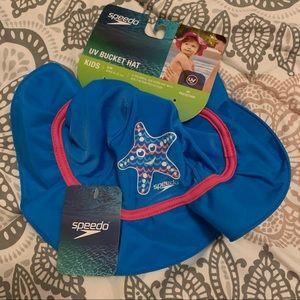 Speedo UV 50+ Bucket Hat Kids S M 6-12 months NWT